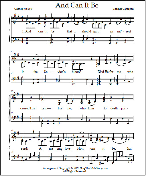 Piano sheet music arrangement for the hymn of worship
