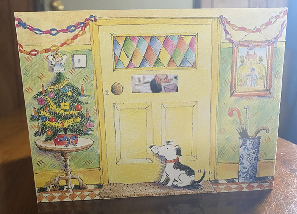 The cover of a book within a book, The Jolly Postman Christmas