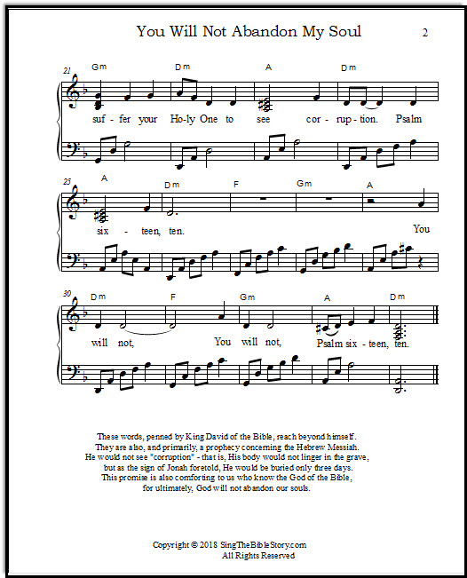 Page two of the song